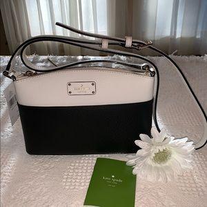 NWT - Kate Spade - Blk/Wht Leather Crossbody Bag